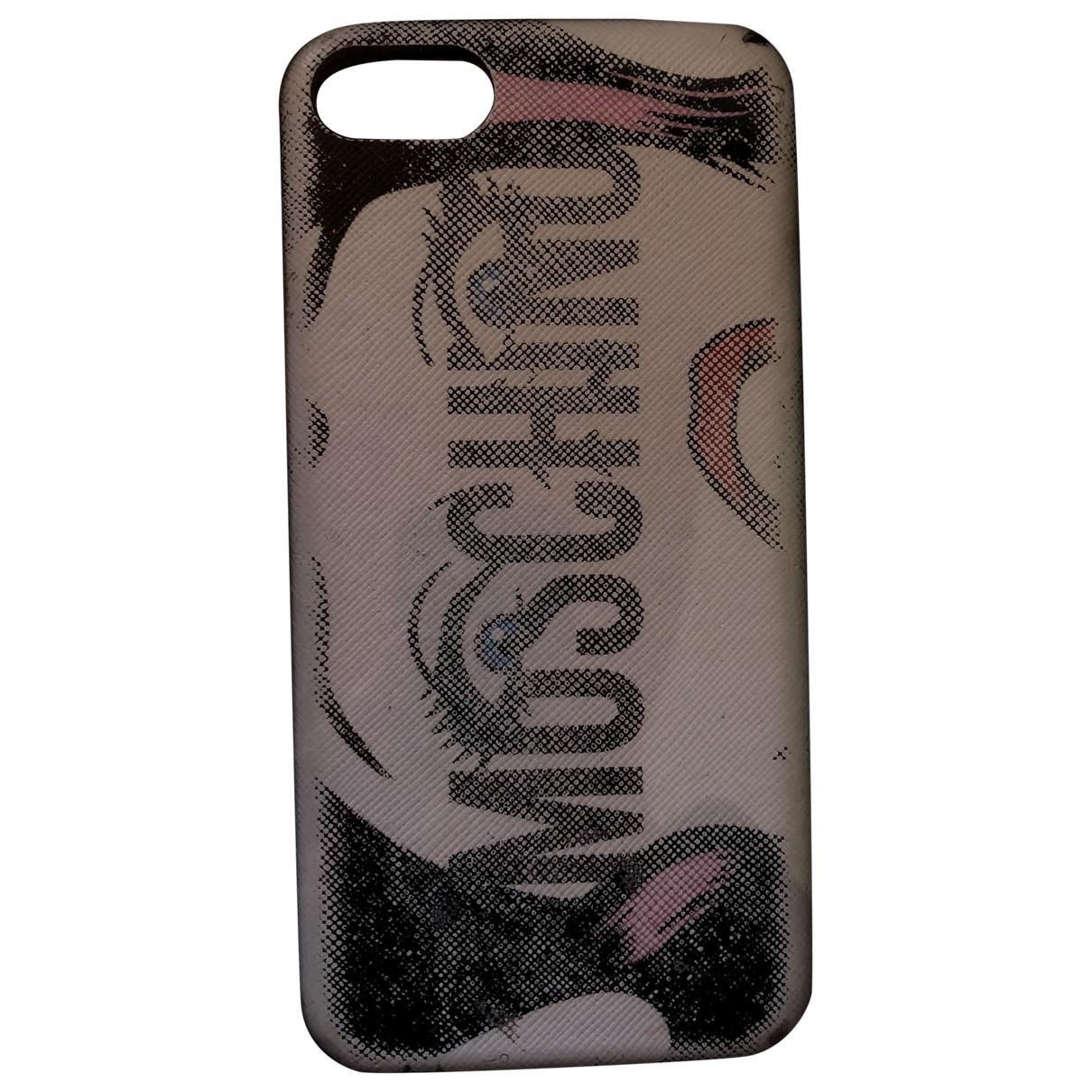 Moschino - Bijoux de portable   pour femme en suede - blanc