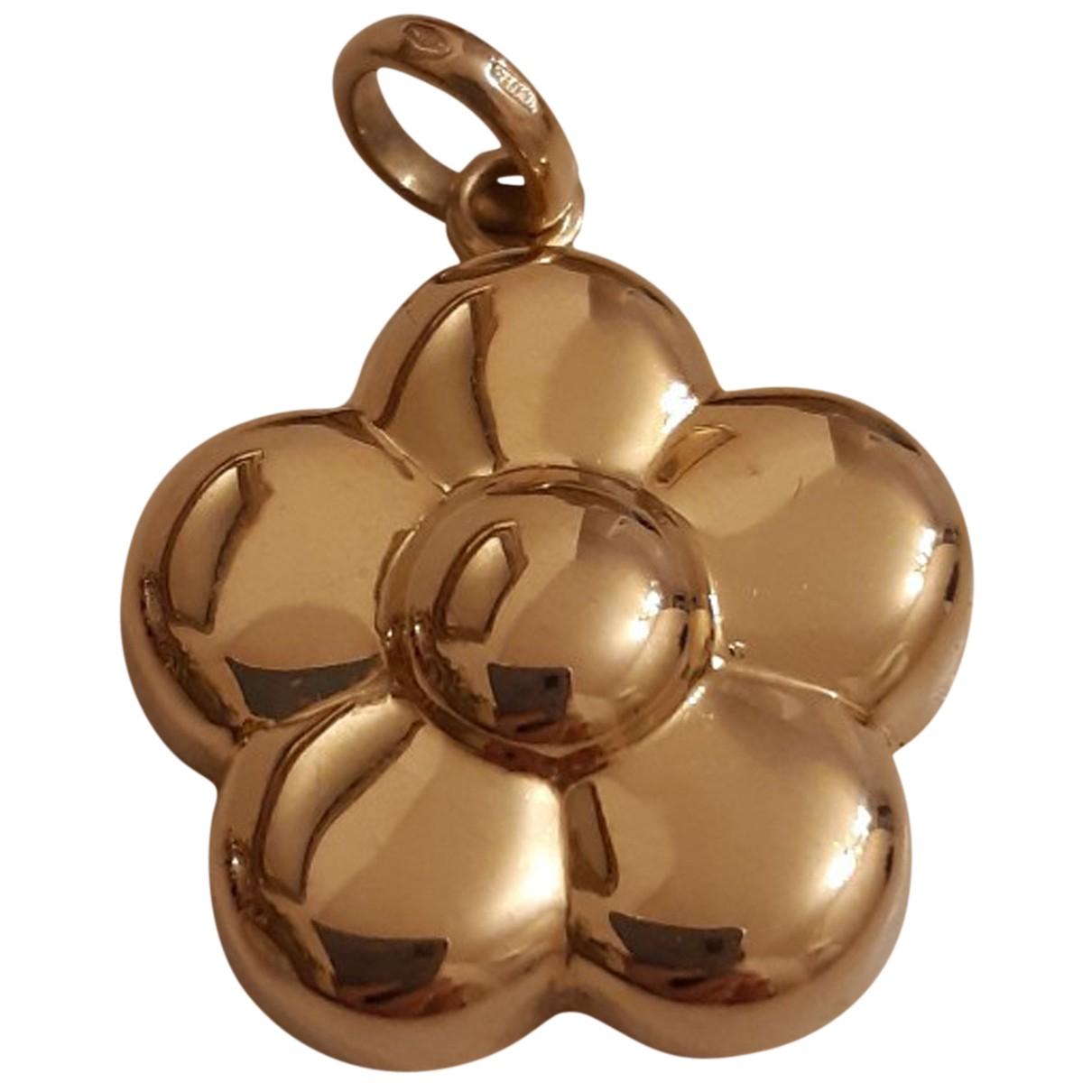 Non Signé / Unsigned Motifs Floraux Gold Yellow gold pendant for Women N