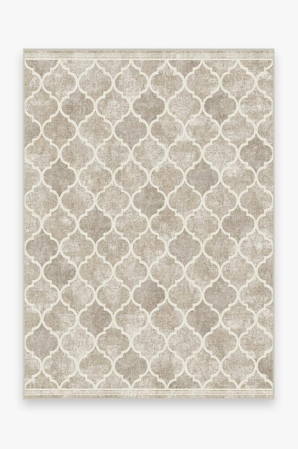 Washable Rug Cover & Pad | Terali Ash Grey Rug | Stain-Resistant | Ruggable | 5'x7'