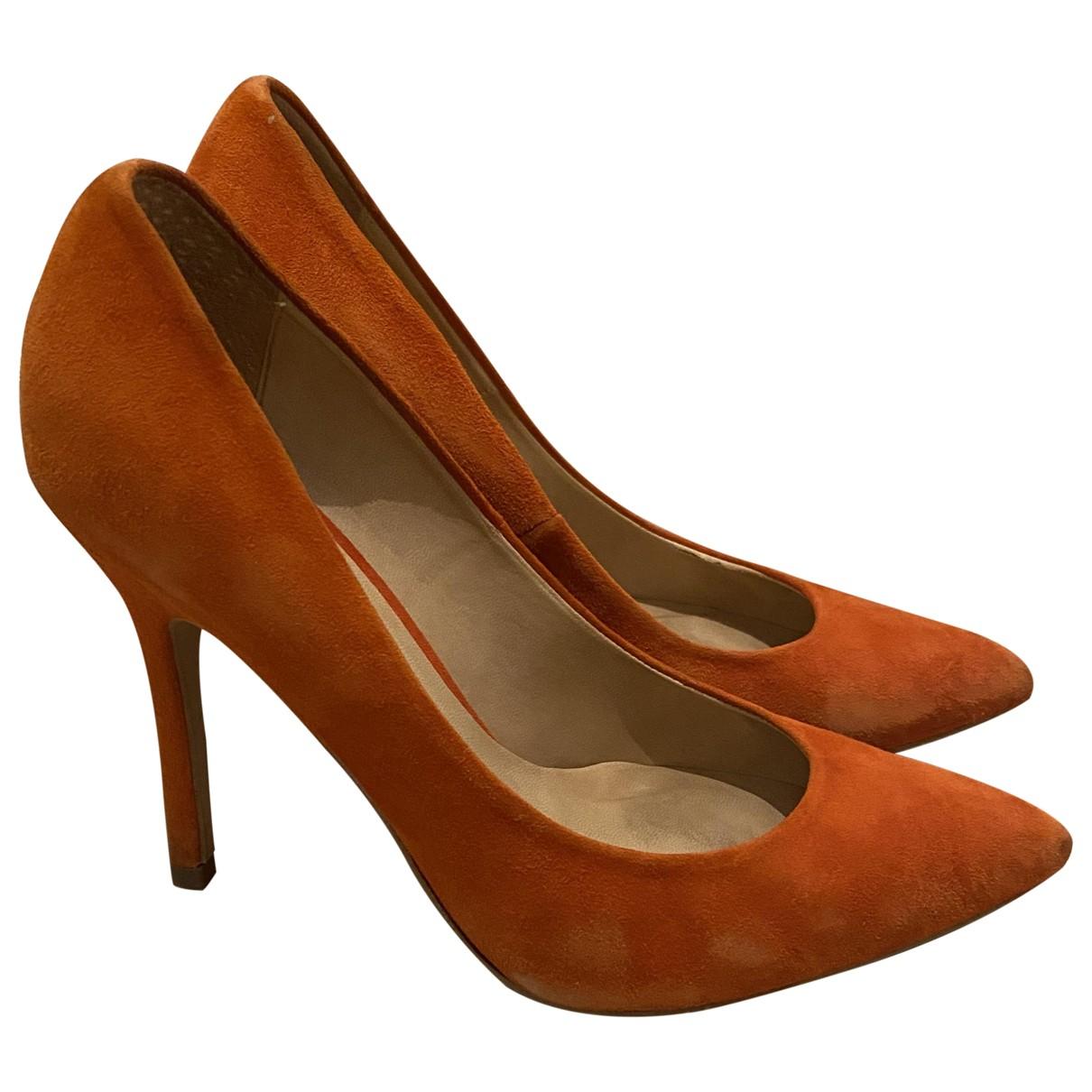 tophop N Orange Suede Heels for Women 37 EU