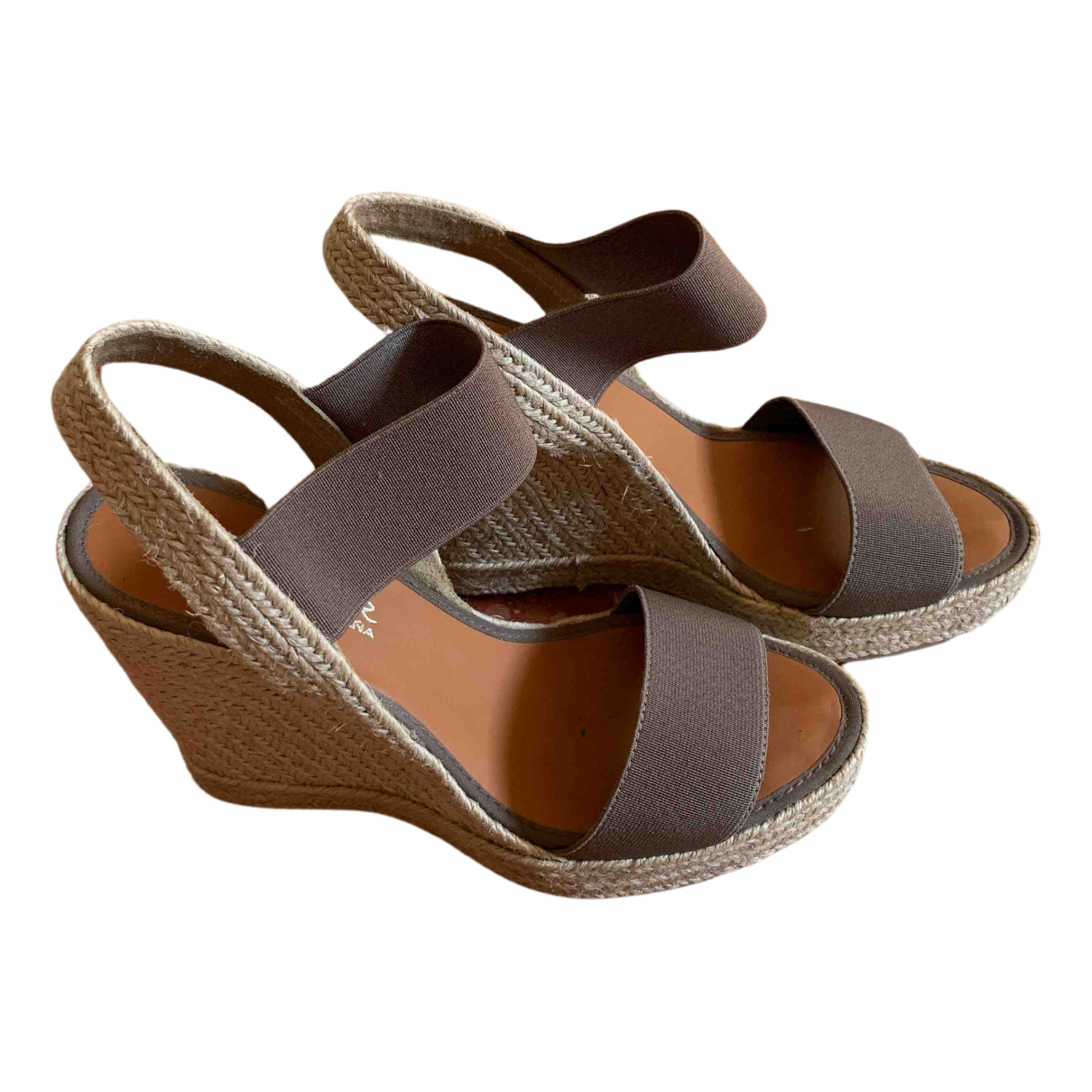Non Signé / Unsigned \N Beige Cloth Sandals for Women 36 IT