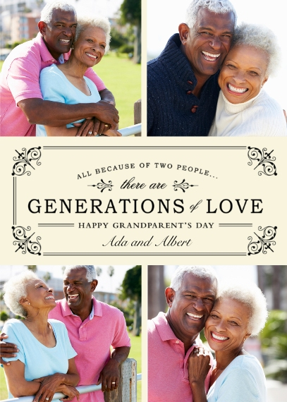 Grandparent's Day Mail-for-Me Premium 5x7 Flat Card, Card & Stationery -Generations of Love