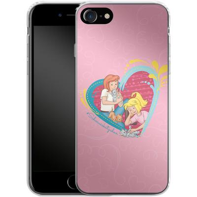 Apple iPhone 7 Silikon Handyhuelle - Bibi und Tina Schmusekaetzchen von Bibi & Tina