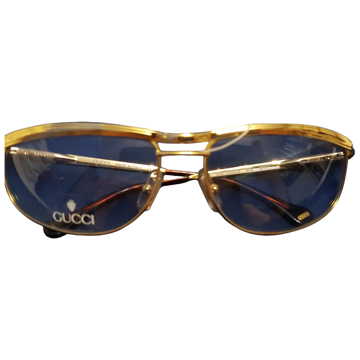 Gucci N Yellow Metal Sunglasses for Women N