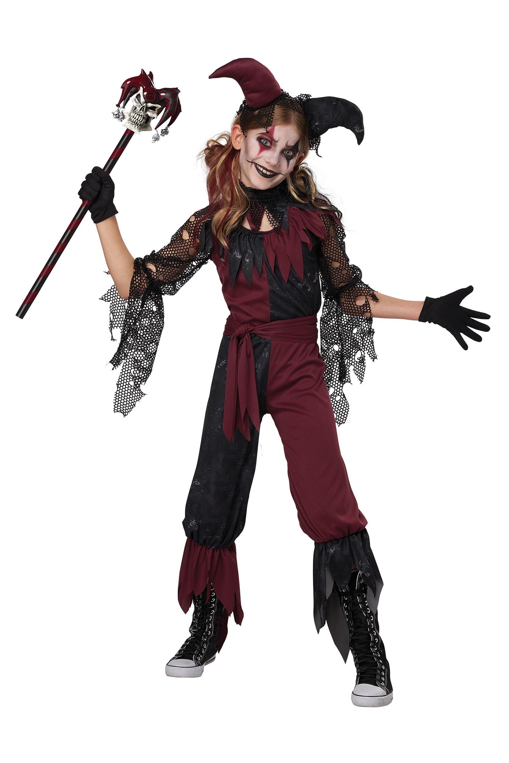 Psycho Jester Girl's Costume