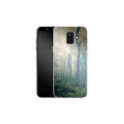 Samsung Galaxy A6 Silikon Handyhuelle - Walk To The Light von Joy StClaire