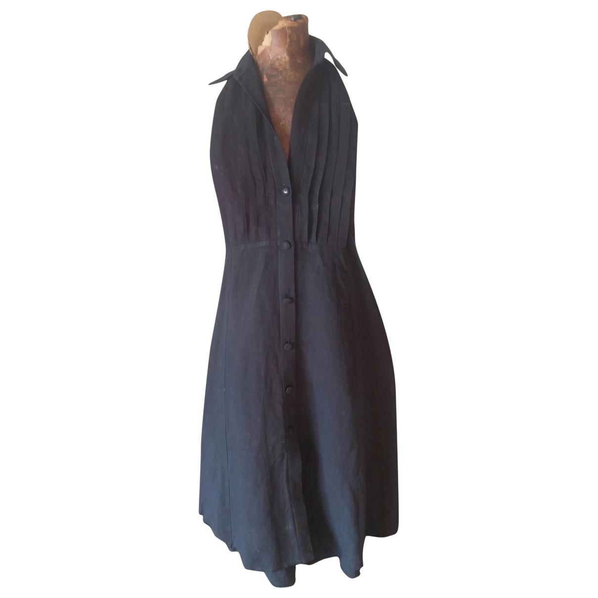 Claude Montana - Robe   pour femme en coton - noir