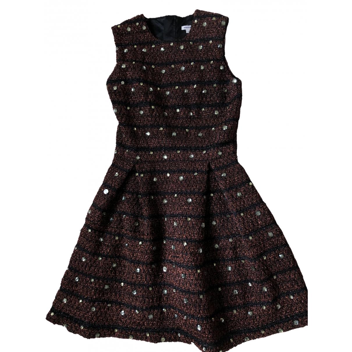 Manoush \N Kleid in  Bordeauxrot Viskose
