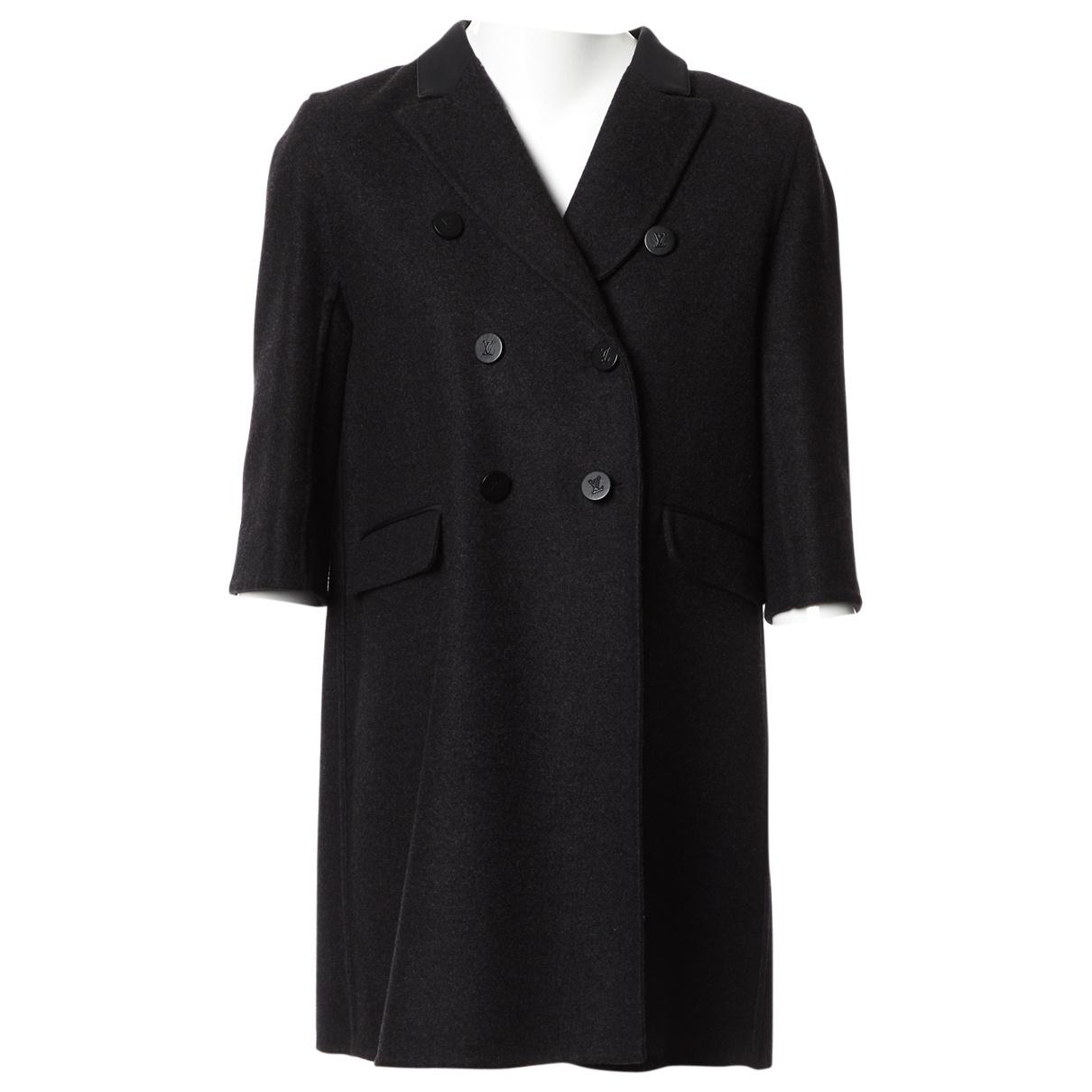 Louis Vuitton \N Black Wool coat for Women 40 FR
