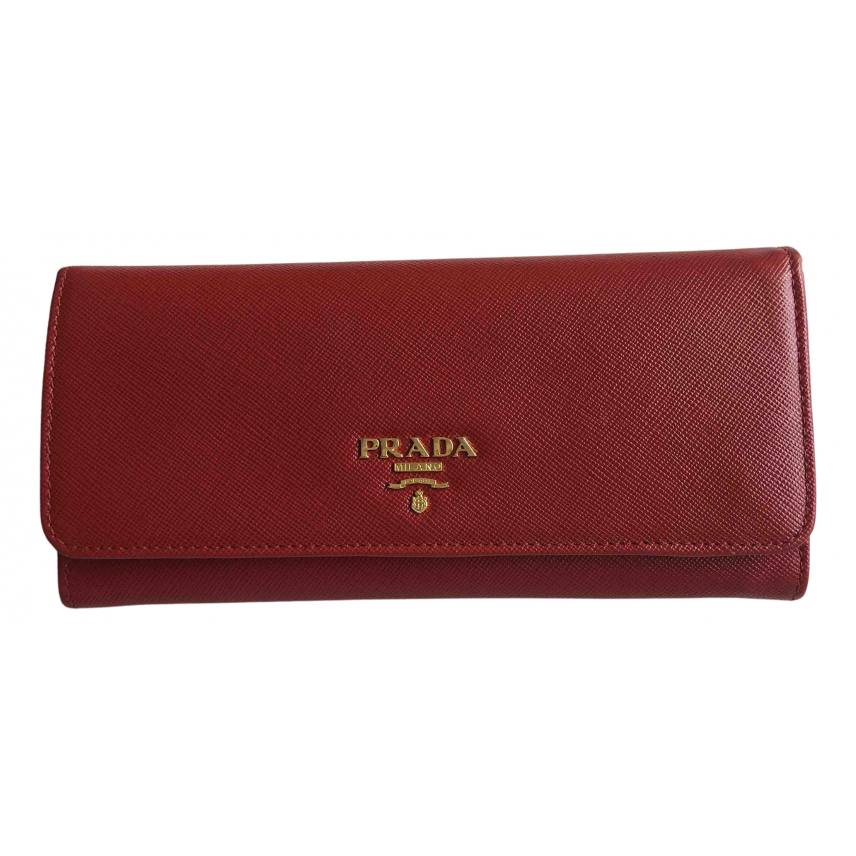 Prada N Red Patent leather wallet for Women N