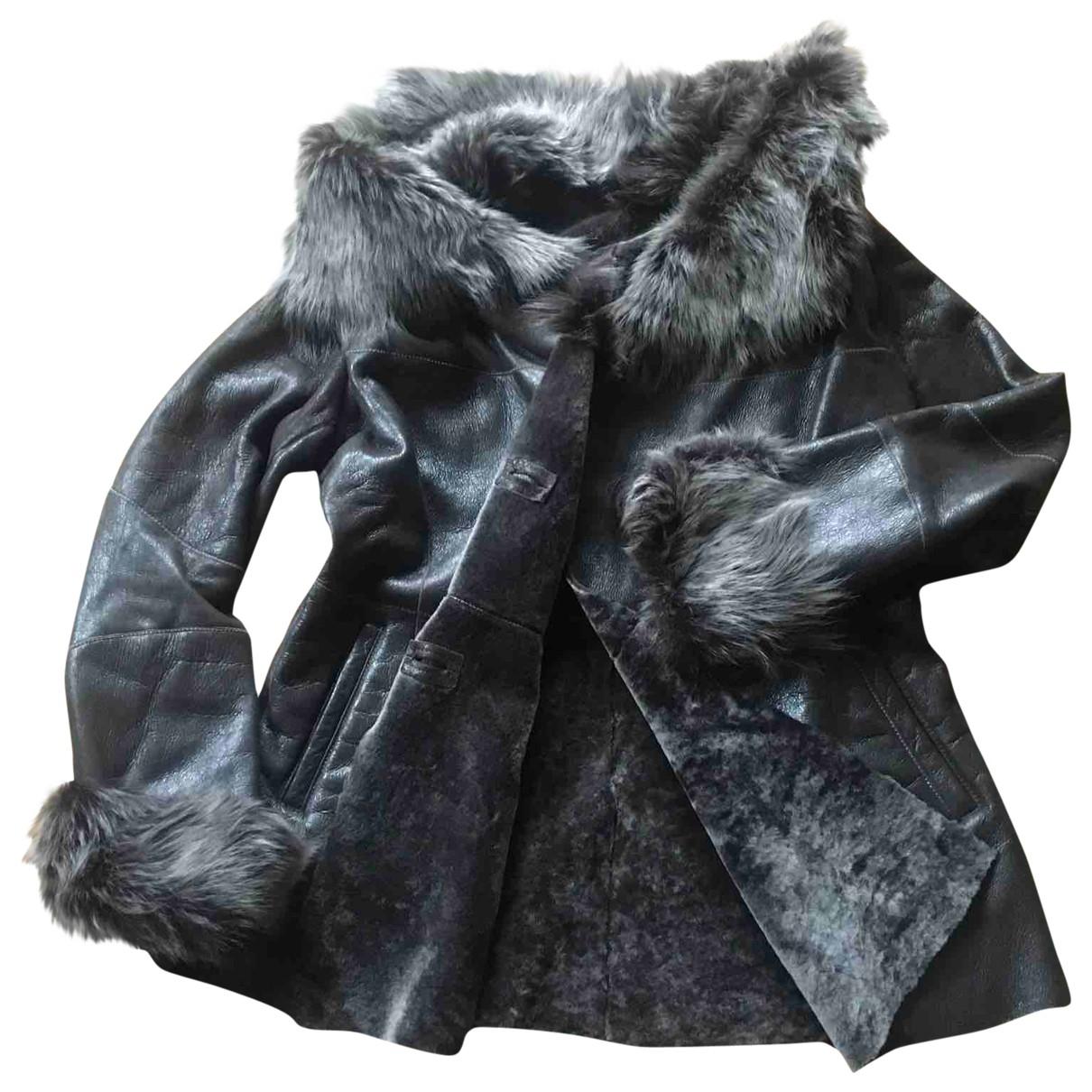 Ventcouvert \N Brown Shearling jacket for Women 44 FR