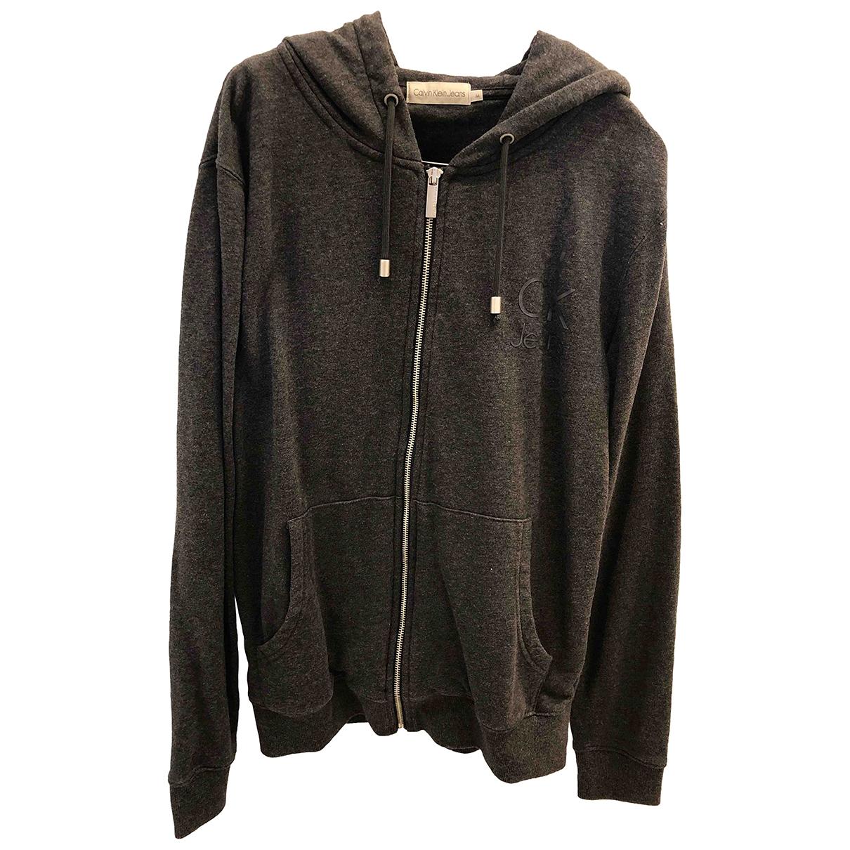 Calvin Klein \N Pullover.Westen.Sweatshirts  in  Anthrazit Baumwolle