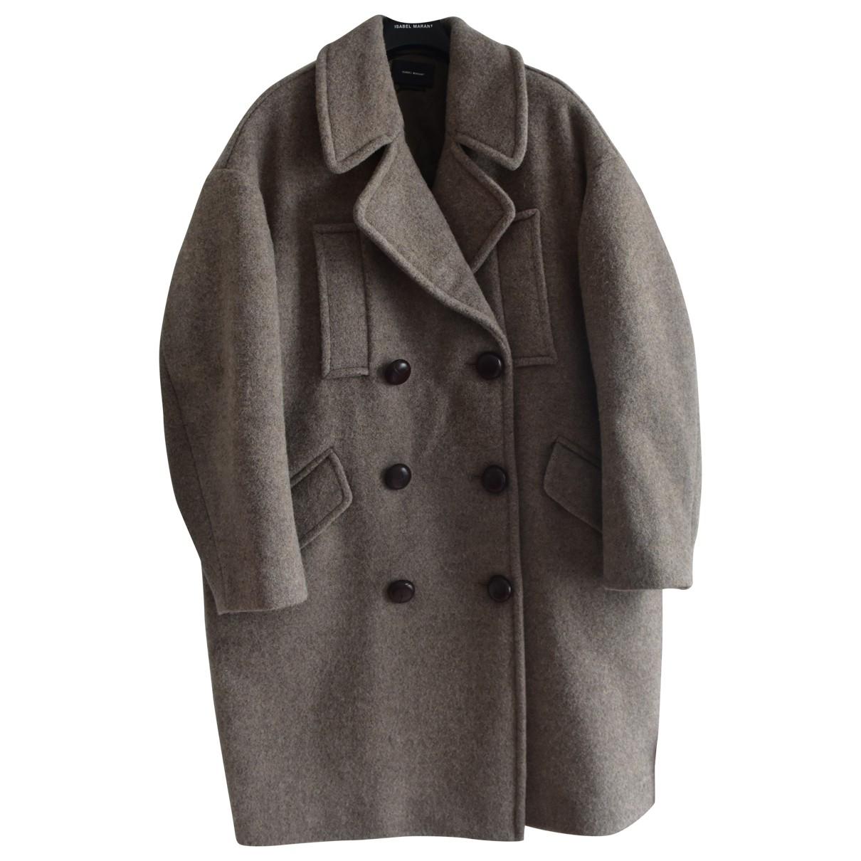 Isabel Marant - Manteau   pour femme en laine - marron
