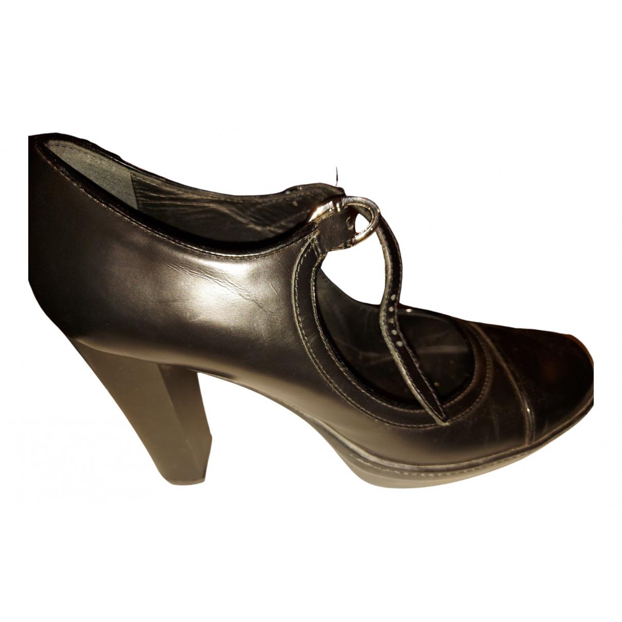 Tod's \N Black Leather Heels for Women 39 EU