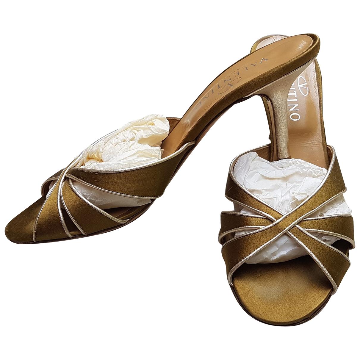 Valentino Garavani \N Green Cloth Sandals for Women 39 EU