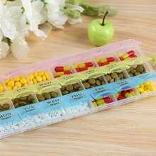 1pc 21 Grid Pill Storage Box