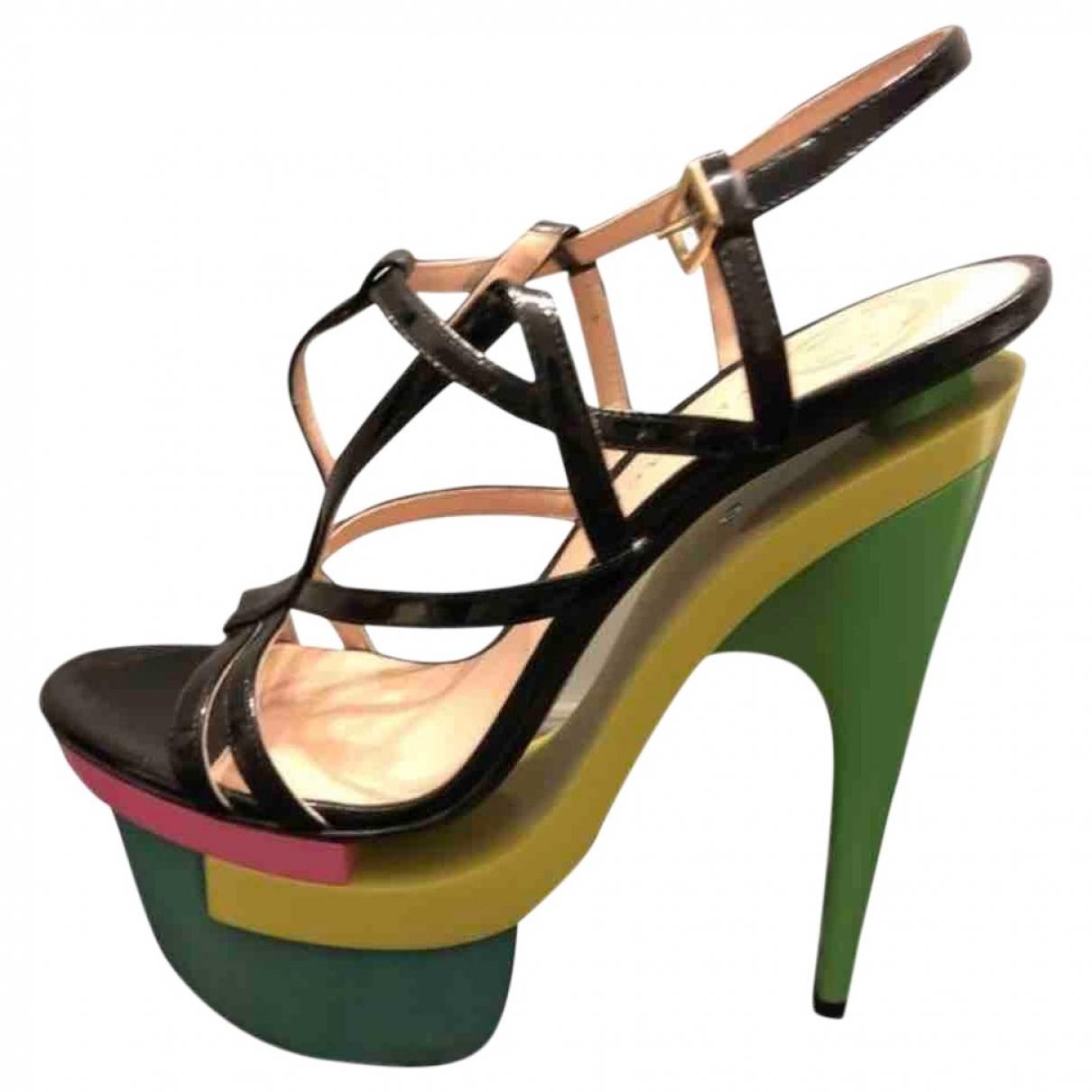 Versace \N Multicolour Patent leather Sandals for Women 40 EU