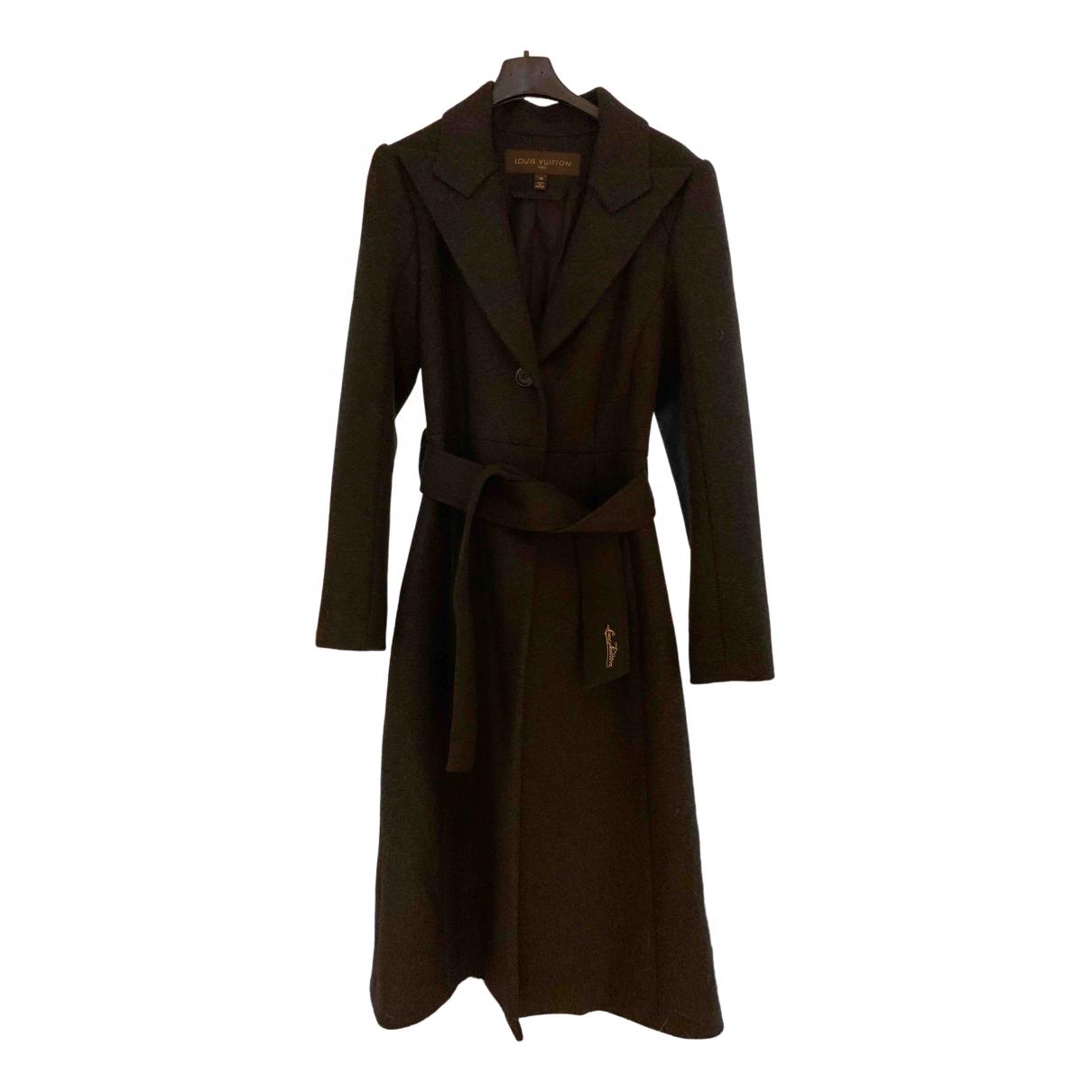 Louis Vuitton - Manteau   pour femme en laine - anthracite