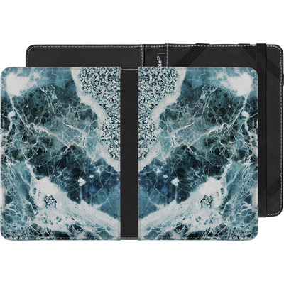 Pocketbook Touch Lux eBook Reader Huelle - Blue Sea Marble von Emanuela Carratoni