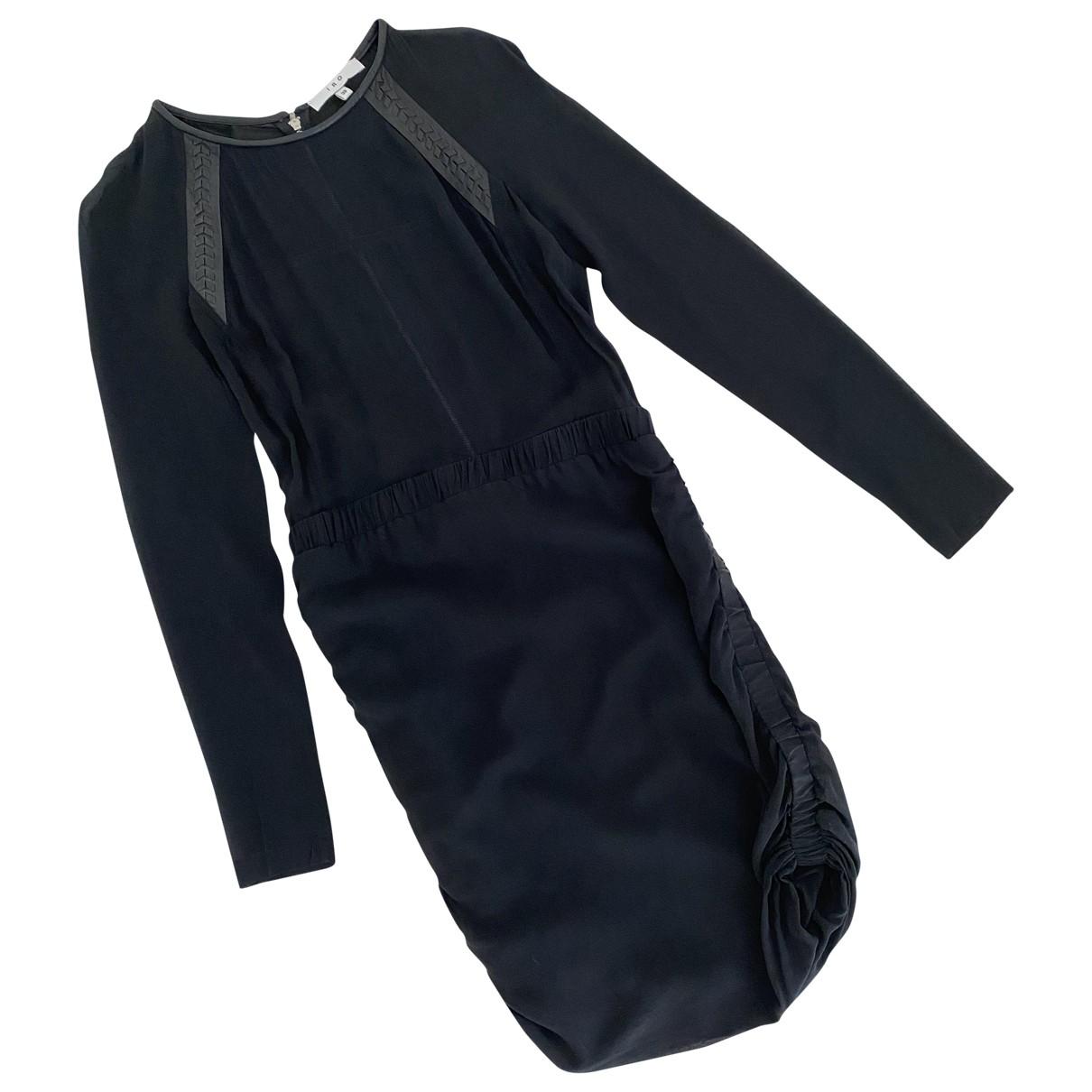 Iro \N Kleid in  Schwarz Seide