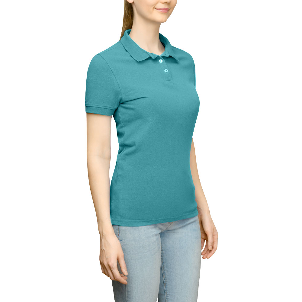 Page & Tuttle Solid Jersey Polo Golf Shirt Green- Womens- Size XXL