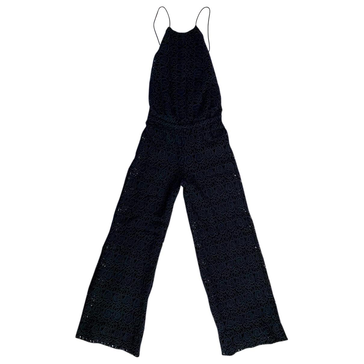 Miguelina \N Jumpsuit in  Schwarz Baumwolle