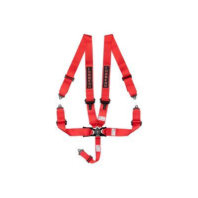 Corbeau 3 Inch 5-Point Harness Belt Bolt-In (Red) - 53007B