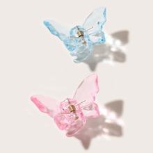 2 Stuecke Kleinkind Maedchen Haarklaue mit Schmetterling Dekor
