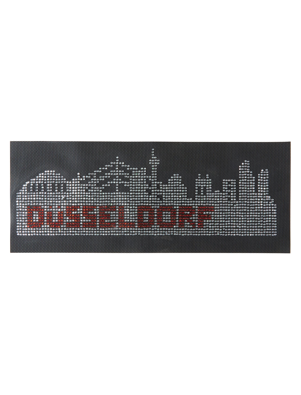 Kostuemzubehor Buegelbild Duesseldorf Skyline aus Strass