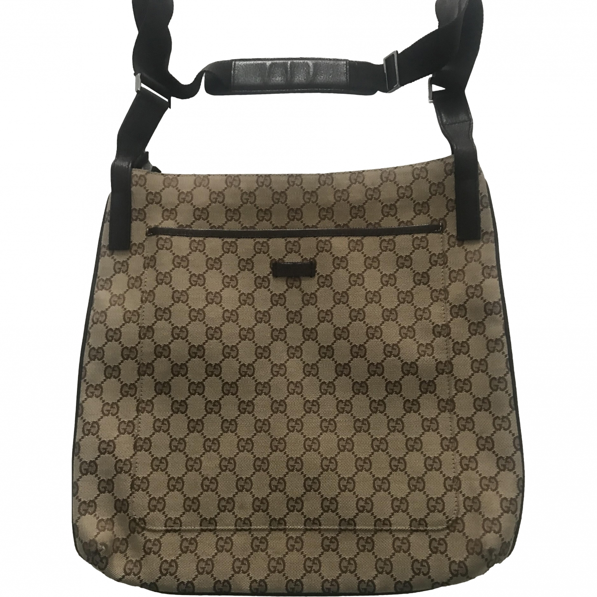 Gucci \N Brown Cloth Small bag, wallet & cases for Men \N