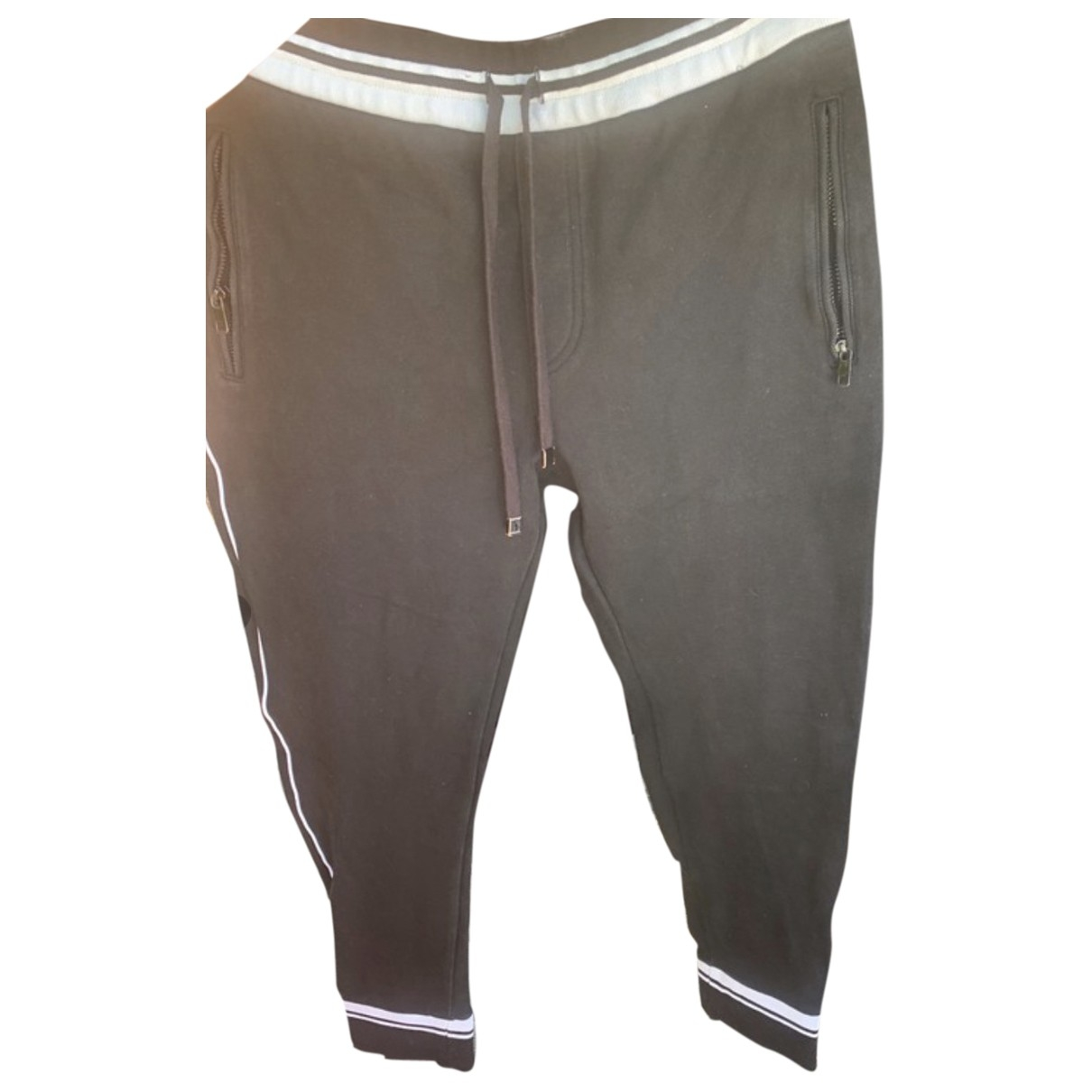 Dolce & Gabbana \N Black Cotton Trousers for Men 50 IT