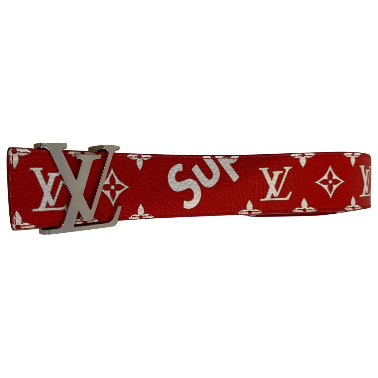 Louis Vuitton X Supreme \N Multicolour Leather belt for Men 100 cm