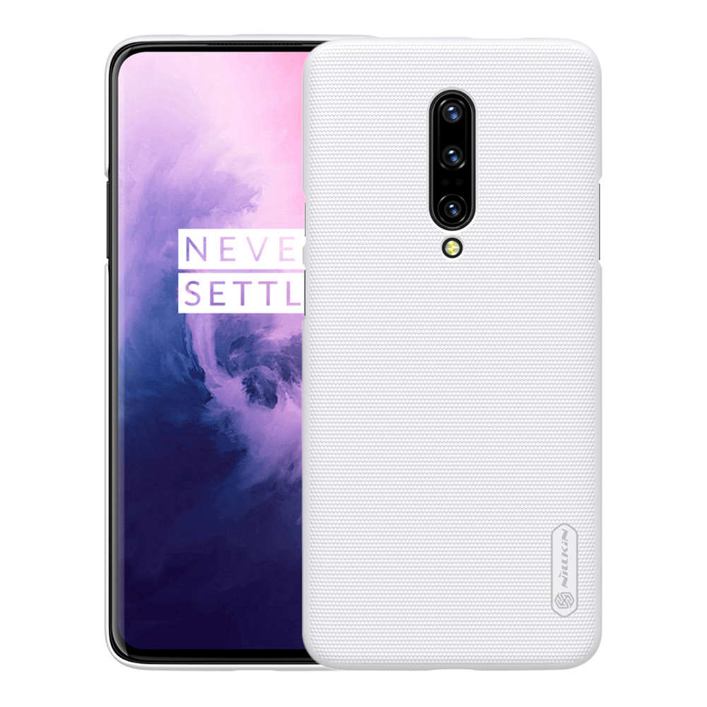 NILLKIN Hard Phone Case For Oneplus 7 Pro Protective Back Cover - White