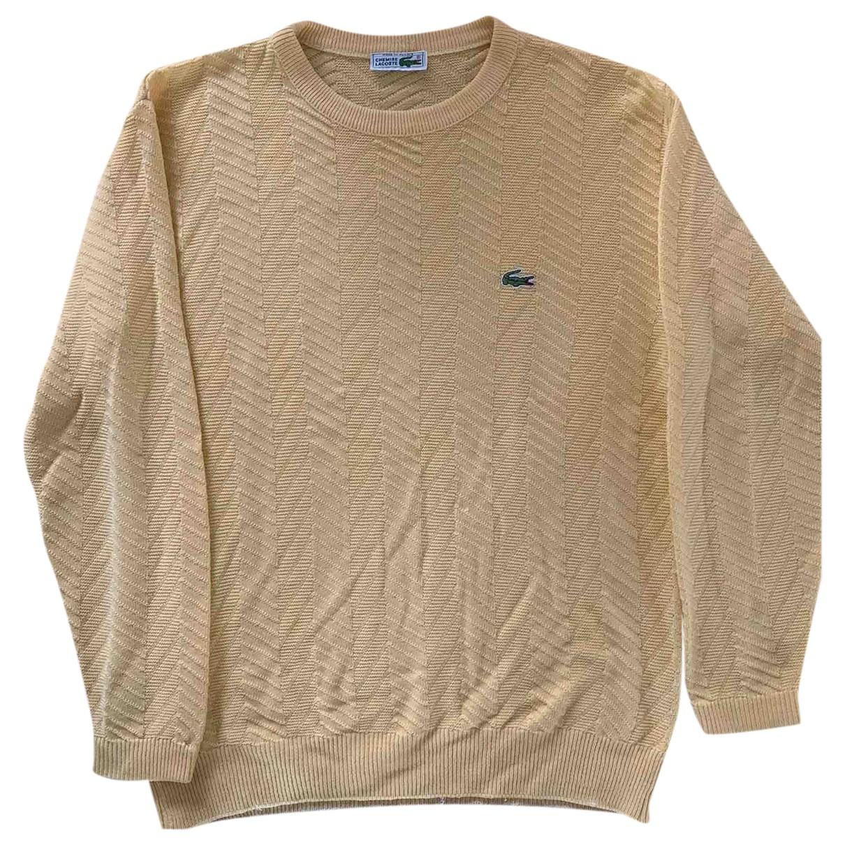 Lacoste - Pulls.Gilets.Sweats   pour homme en coton - jaune