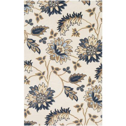 Athena ATH-5161 12 x 15 Rectangle Cottage Rug in Navy  Camel  Beige  Sky