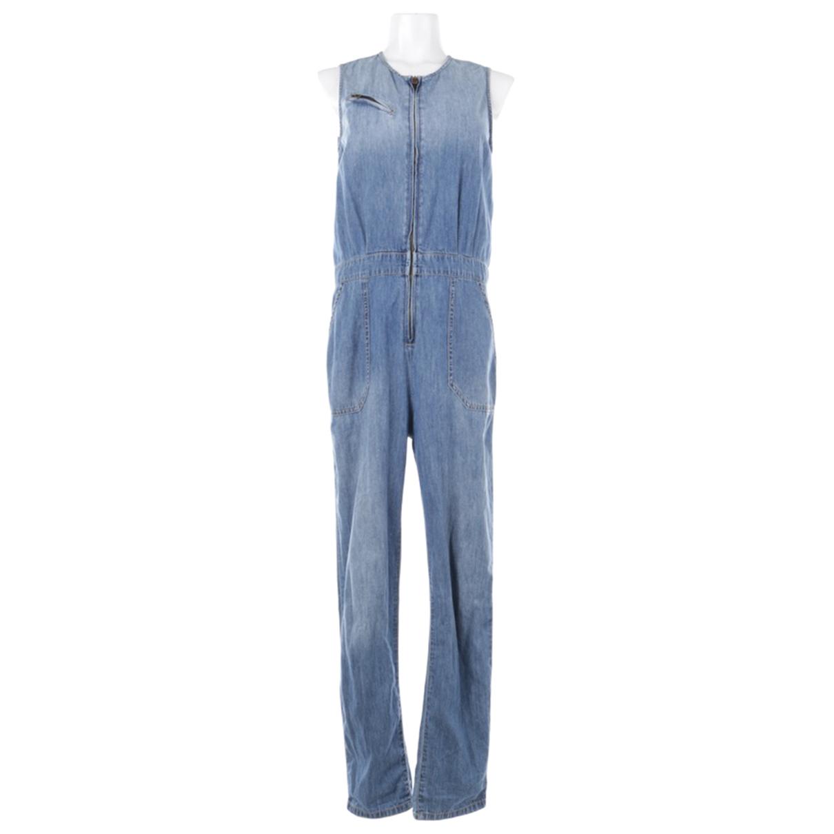 Current Elliott \N Blue Cotton jumpsuit for Women 34 FR