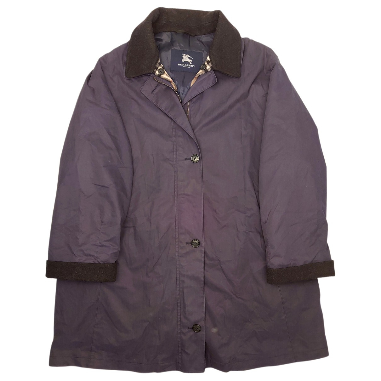 Burberry N Navy Cotton jacket for Women 42 FR