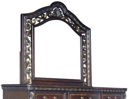 Ballard Collection BA400-M Mirror with Wood Trim and Antique Gold Accents in Cherry