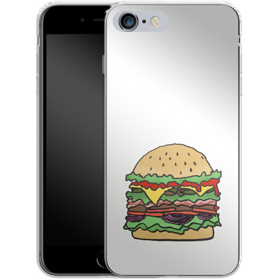 Apple iPhone 6s Plus Silikon Handyhuelle - Burger von caseable Designs