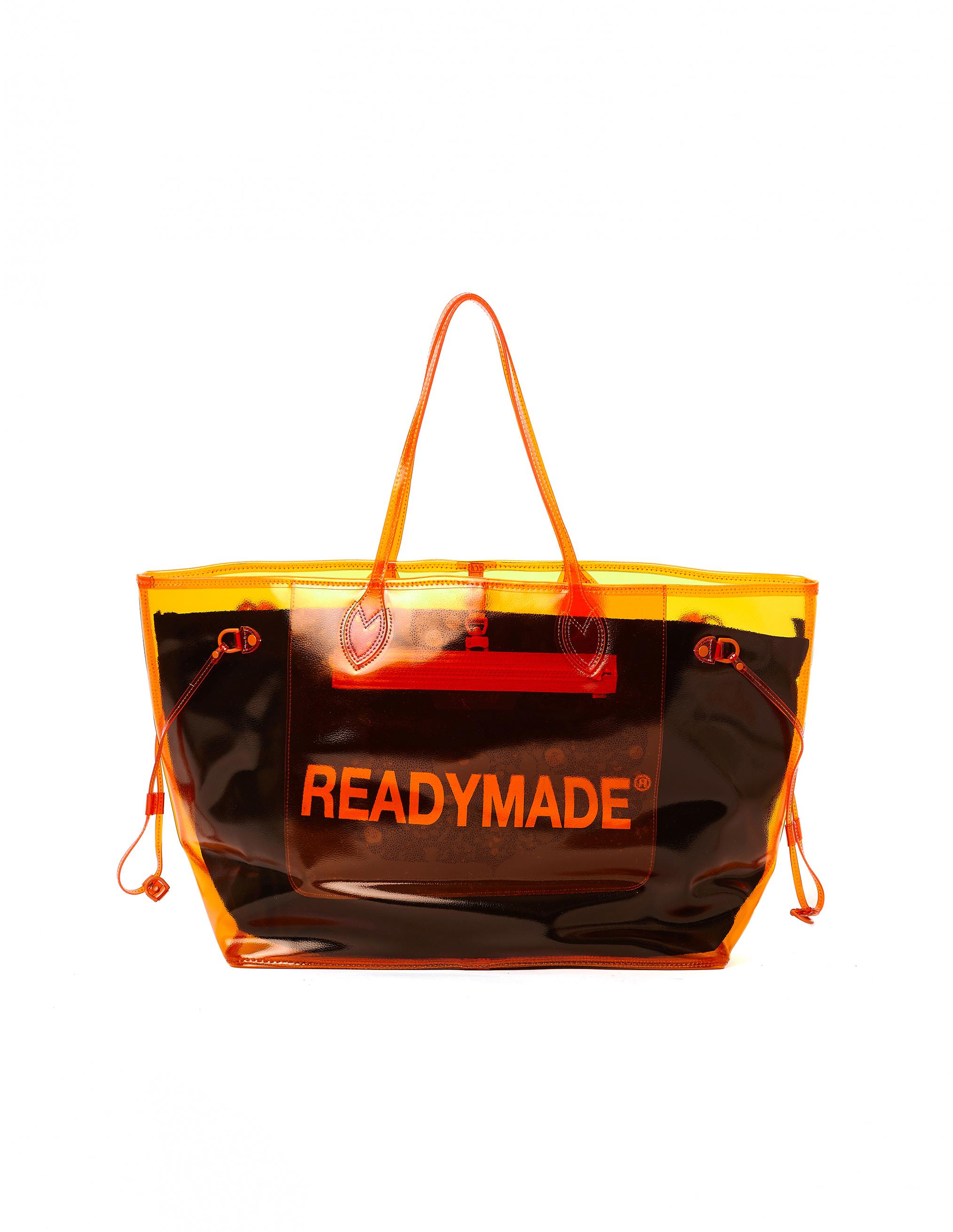 Readymade Orange Transparent Roomy Bag