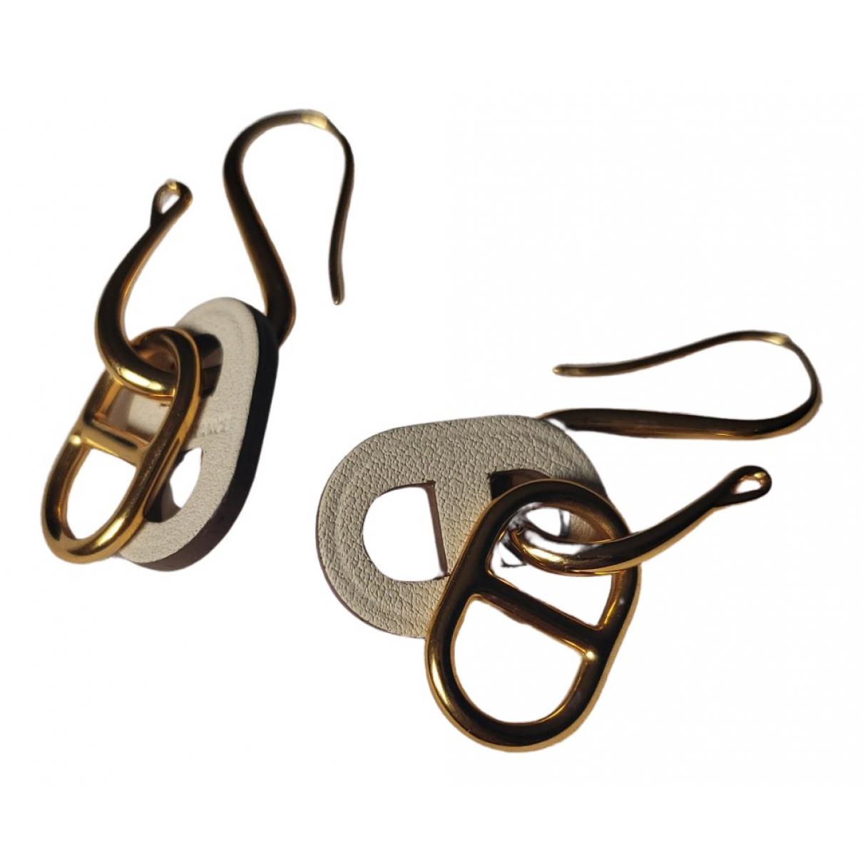 Hermes - Boucles doreilles Chaine dAncre pour femme en metal - dore
