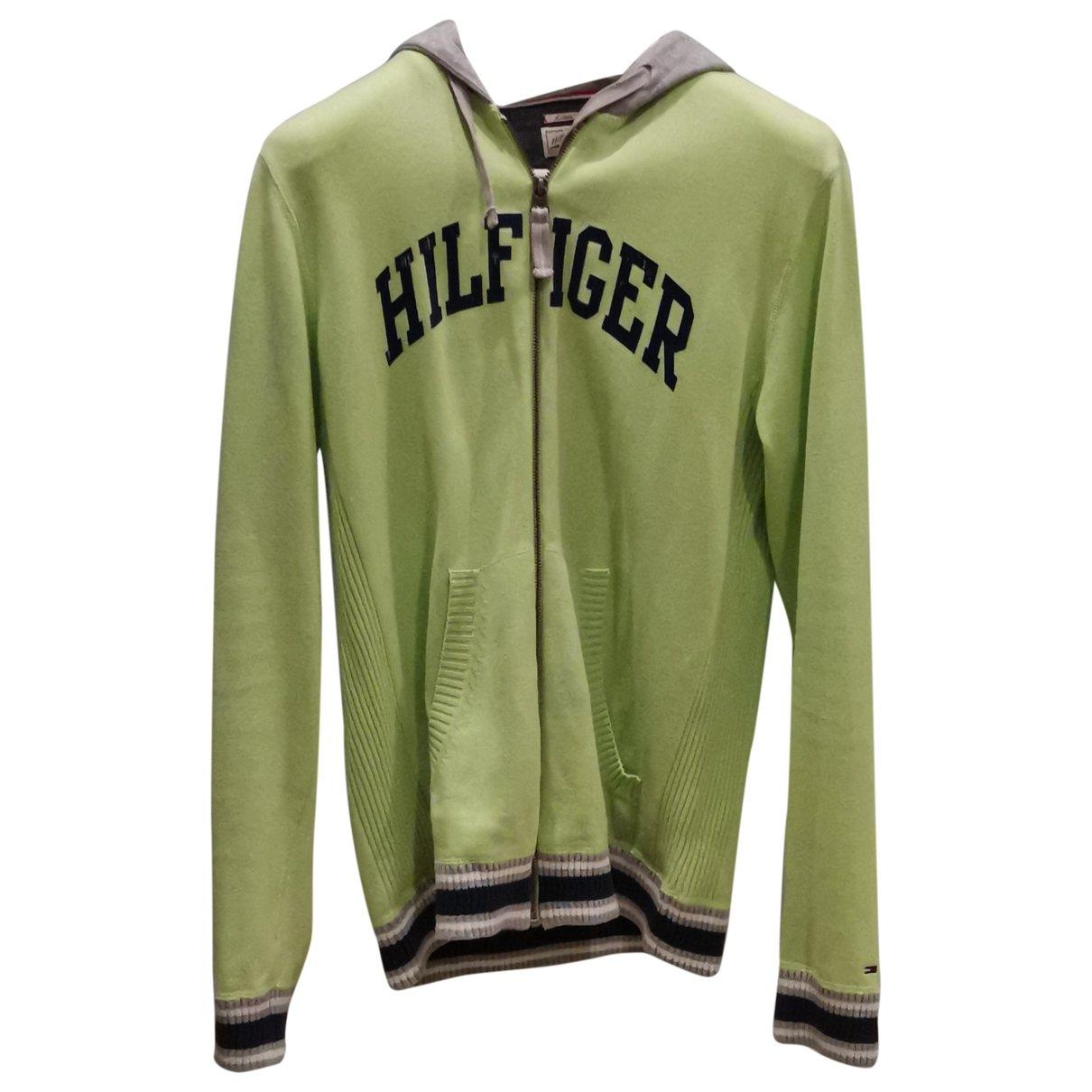 Tommy Hilfiger \N Green Cotton Knitwear & Sweatshirts for Men M International