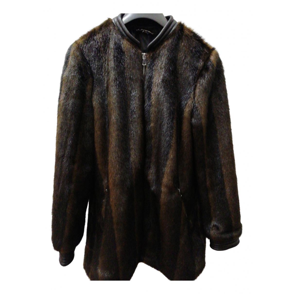 Zara - Manteau   pour femme en fourrure synthetique - marron
