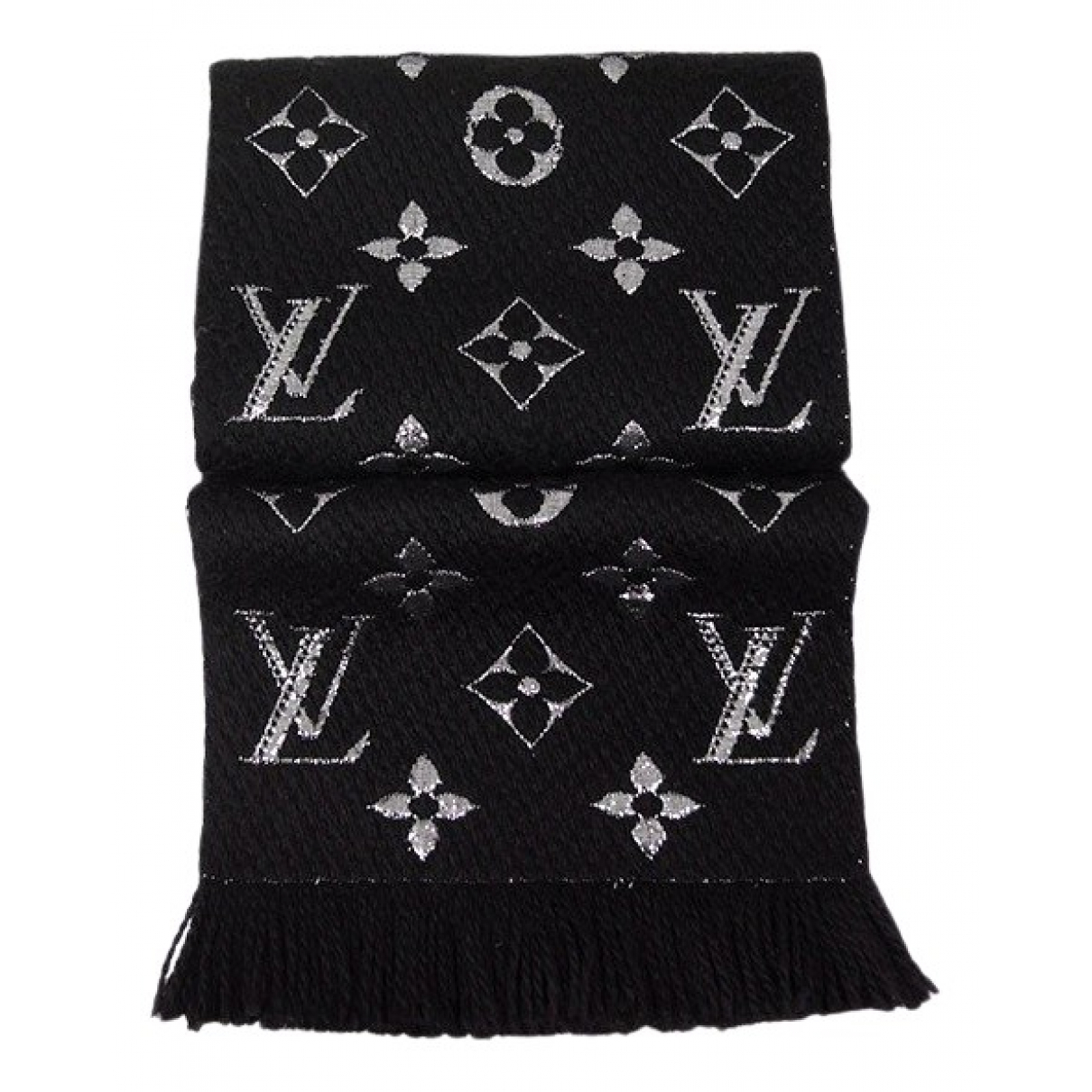 Louis Vuitton Logomania Black Wool scarf for Women \N