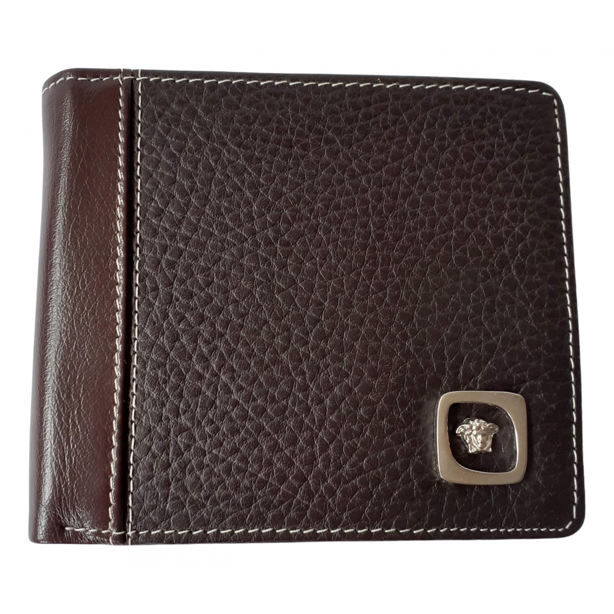 Gianni Versace \N Brown Leather Small bag, wallet & cases for Men \N