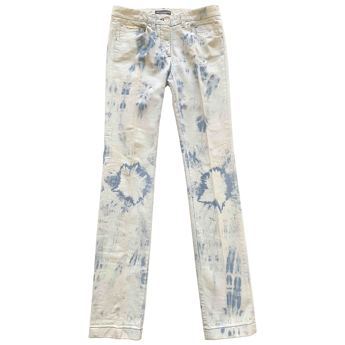 Dolce & Gabbana \N Blue Cotton Jeans for Women 42 FR