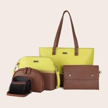 Conjuntos de bolsos Monocolor Doble Asa