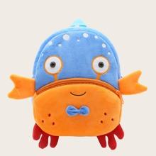 Kinder flauschiger Rucksack mit Karikatur Krabbe Design