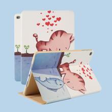 iPad Schutzhuelle mit Katze & Fisch Muster