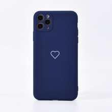 Funda de iphone con estampado de corazon